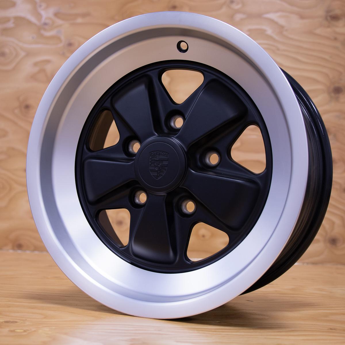 Fuchs 16 Inch Black Face Wheels For Porsche Service Auto Premium